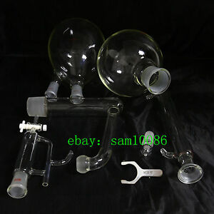 Essential Oil Steam Distillation Kit liebig Condenser all Glassware s35 Clip lab