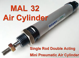 Mal 32mm X 250mm Single Rod Double Acting Mini Pneumatic Air Cylinder Mal32x250