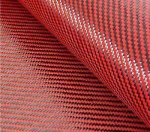 Carbon Fiber red Kevlar Cloth Fabric 2x2 Twill 39 5 3k 5 5oz