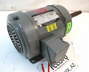 Used Us Motors Unimount 125 3 phase Electric Motor 2 Hp 3485 Rpm 230 460 V