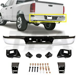 Chrome Rear Step Bumper Assembly For 2004 2008 Dodge Ram 1500 2500 3500 Hd