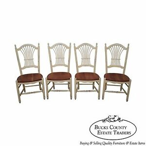 Zimmerman Chair American Heirloom Cherry Sheaf Back Windsor Dining Chairs