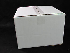New 500ct White Plain Single Wall Corrugated Cardboard 12 X 12 X 8 Box