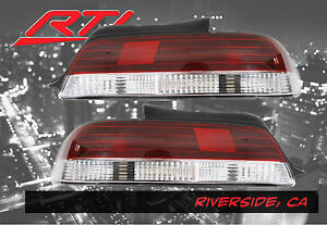 97 01 Honda Prelude Bb Rear Tail Lights Sh S Red Clear Dohc H22 H23