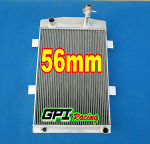 56mm Custom Aluminum Alloy Radiator Chevy M T 1935 1936 35 36