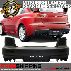 Fit 08 15 Lancer Gt Evo X Rear Bumper Dual Twin Outlets Exhaust Pp