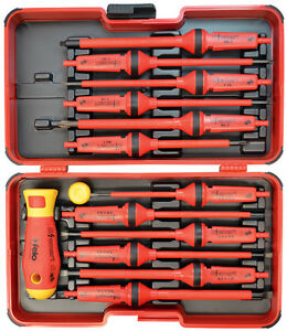 Felo E smart 1000v 12 Interchangeable Blades Handle Screw Driver Set Germany
