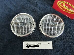 Jeep Cj5 Cj7 Cj8 Scrambler Front Parking Lamp Lens Pair Lenses Only New