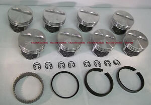 Speed Pro Chevy 350 383 Hypereutectic Coated Pistons 8 H860cp 40 Moly Rings
