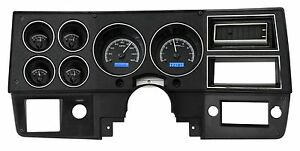 1973 1987 Chevy Truck C10 Black Alloy Blue Dakota Digital Vhx Analog Gauge Kit