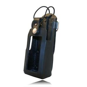 Boston Leather Black Firemens Radio Holder For A Motorola 5480rc 1 hw
