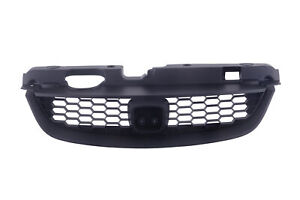 Black Upper Grille Grill W Honeycomb Insert For 2004 2005 Honda Civic Coupe