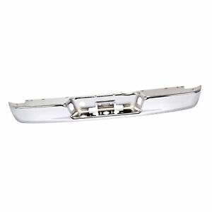 Chrome Rear Step Bumper Steel Face Bar For 02 09 Dodge Ram 1500 2500 3500 Pickup
