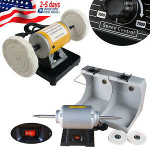 Polisher Polishing Machine Jewelry Dental Lab Lathe Buffing 3k 7k Speed Control