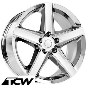 20 Inch Jeep Grand Cherokee Srt8 Factory Replica Chrome Wheels Rims 5x5 34mm
