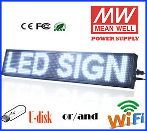 New Update 8g 8 x40 Led Sign White Programmable Scrolling Message Display Board