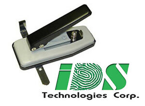 Small Desktop Adjustable Id Card Slot Punch With Side And Depth Guides