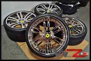 Savini Sv35c 21 22 Staggered Chrome Wheels Rims Pirelli Tires Fits Ferrari