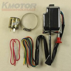 Universal Street Hot Rod Turn Signal Switch With Flasher 12v Chrome For Ford Gm