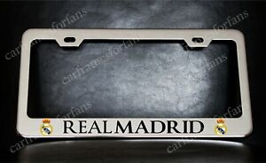 Real Madrid License Plate Frame Custom Made Of Chrome Plated Metal