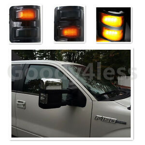 08 16 Ford F250 f550 Super Duty Towing Mirrors Power Heated smoke Turn Signals