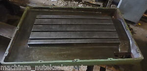 48 75 X 31 X 4 Steel Weld T slotted Table Cast Iron Layout Plate Jig Weld