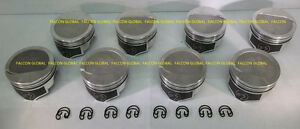 Speed Pro trw Chevy 454 Forged 8cc Dish Coated Skirt Pistons 8 30