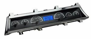1966 To 1967 Chevelle Ss Dakota Digital Black Alloy Blue Vhx Analog Gauge Kit