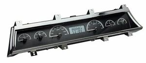 1966 To 1967 Chevelle Ss Dakota Digital Black Alloy White Vhx Analog Gauge Kit