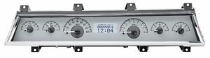 1966 1967 Chevelle Ss Malibu Dakota Digital Silver Alloy White Vhx Gauge Kit