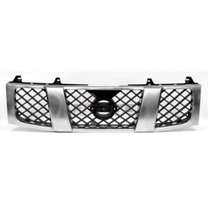 Front Grille Black Chrome For 2004 2007 Nissan Titan Ni1200210
