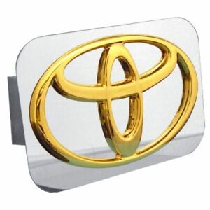 Toyota Gold Stainless Steel 1 25 Trailer Tow Hitch Cover