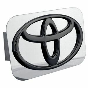 Toyota Black And Chrome Stainless Steel 1 25 Trailer Tow Hitch Plug Cover