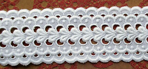 Vin Fabric Lace Swiss Cotton White For Bed Linens Dresses Sm Leaf Cut Work