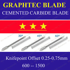 9x Hq 30 Cemented Carbide Blades For Graphtec Cb09 Cutting Cutter Vinyl Plotter