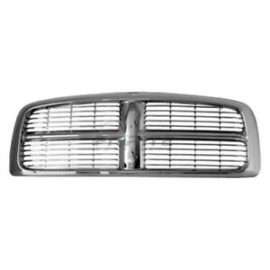 New Grille Chrome Frame With Painted Bars For 2002 2005 Dodge Ram 1500 Ch1200261