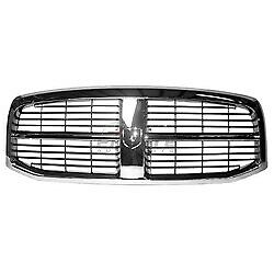 New Front Grille Chrome Black For 2006 2009 Dodge Ram 1500 Ch1200282