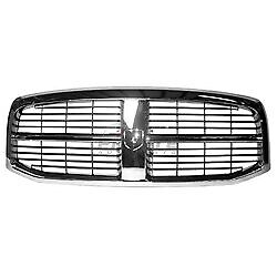 Front Grille Chrome Black For 2006 2009 Dodge Ram 2500 Ch1200282