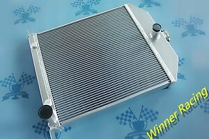 56mm Aluminum Alloy Radiator Ford Car W Chevy 350 V8 Engine 1942 1948 1947 1946