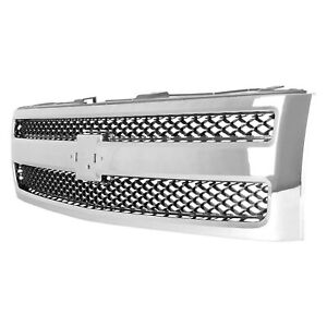 New Front Grille For 2007 2013 Chevrolet Silverado 1500 Gm1200572