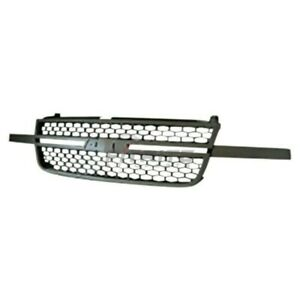 New Front Grille Black Frame Gm1200586 Fits 2003 2007 Chevrolet Silverado 2500hd