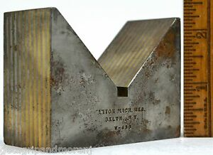 Vintage Magnetic Transfer V block No V 438 By Anton Brass Grinding chuck Tool