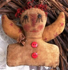 Pattern Primitive Raggedy Angel Ornie Doll Quick And Easy Great Year Round