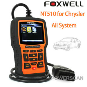 For Chrysler Abs Srs Dpf Full System Obd2 Code Reader Scanner Tool Foxwell Nt510