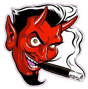 Smoking Devil Decal Is 5 In Size