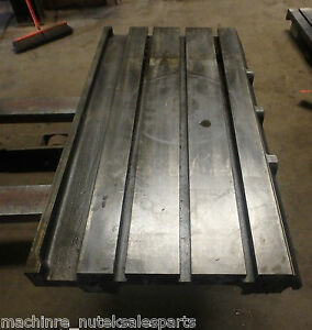 39 375 X 21 X 5 Steel Weld T slotted Table Cast Iron Layout Plate Jig Weld
