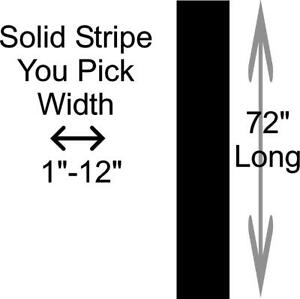 Solid Racing Rally Stripes Vinyl Decal Universal Vehicle Auto Stripes Pick Size