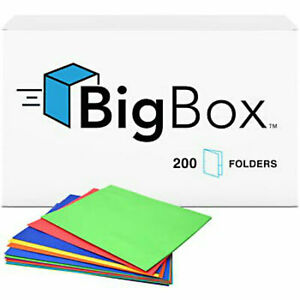 Two Pocket Paper Folders With Fasteners Wholesale Lot Of 200 Bulk 9 5 x11 5