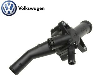 For Vw Beetle Golf Passat Engine Motor Coolant Thermostat Housing Oes 07k121115c
