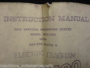 Osaka Kiko Instruction Manual Electric Diagram_mcv 500 Okk cnc Matic Ii